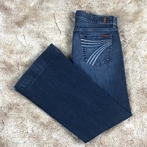7 For All Mankind Dojo Wide Leg Flare Jeans sz 29